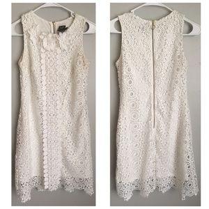 Taylor White Crochet Lace Boho Dress 2 4 S M